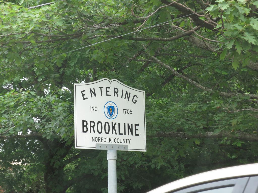 Entering Brookline